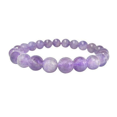 Lavender Amethyst 6mm Elastic Bracelet