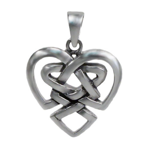 Sterling Silver, smooth Celtic Love Knot Pendant