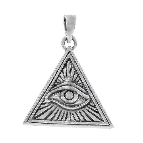 Sterling Silver Eye of Providence Pendant