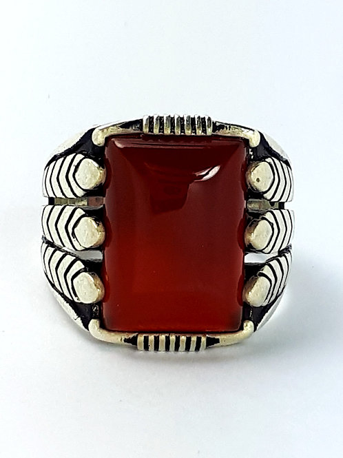 Sterling Silver Ring with Carnelian size 12