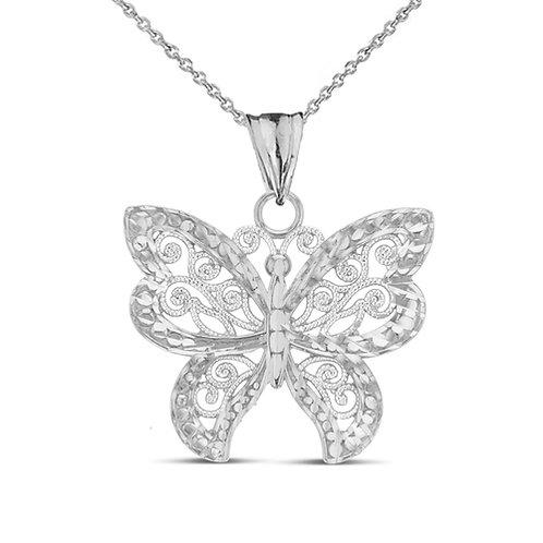 Sterling Silver Designer Butterfly Pendant