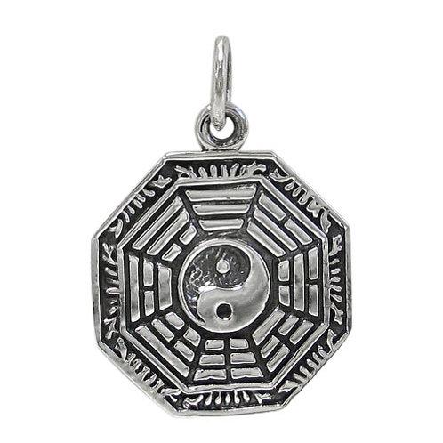 Sterling Silver Bagua Pendant