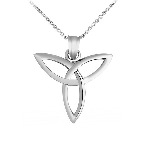 10K White Gold Celtic Trinity Pendant