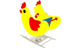 цыпленок на пружине