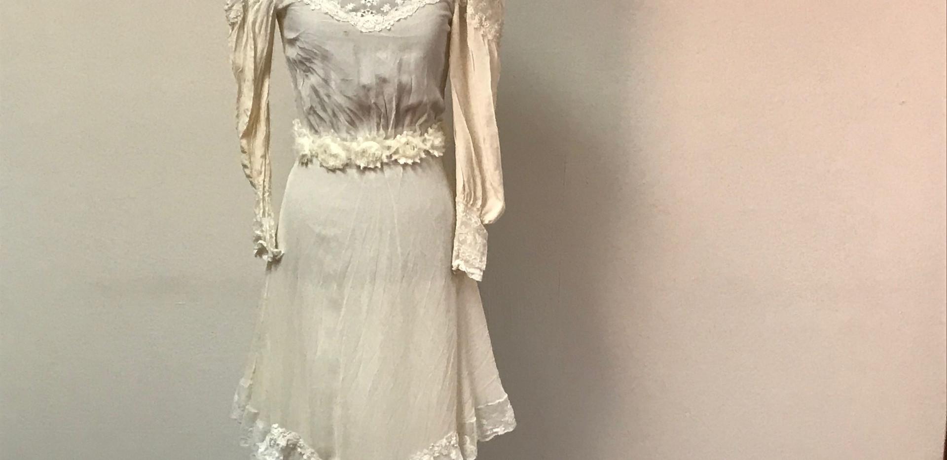 Short Cream Wedding Dress