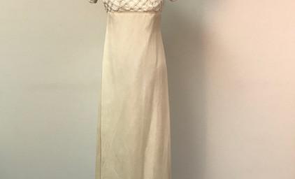 Cream Beaded Wedding Dress