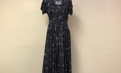 Navy Floral Dress