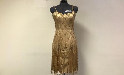 Gold Beaded 1920's Flapper Dress