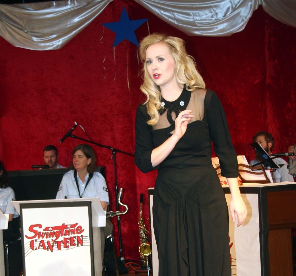 Swingtime Canteen - Sleek Black Crooner Dress