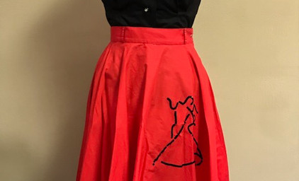 Red and Black Two Piece Sock Hop Outfit