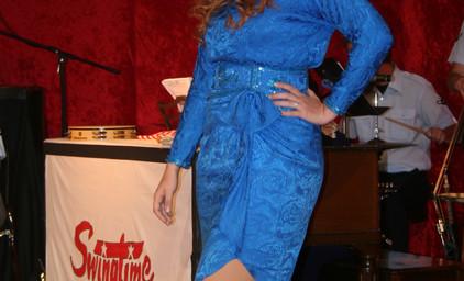 Swingtime Canteen - Vibrant Blue Vixen Dress
