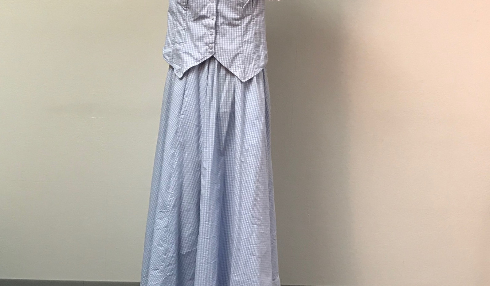 Late 1800's Blue Dress