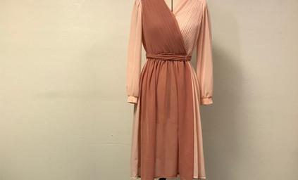 Rose and Pink Chiffon Dress