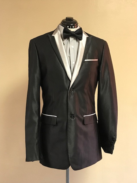 Black and Silver Suit Jacket