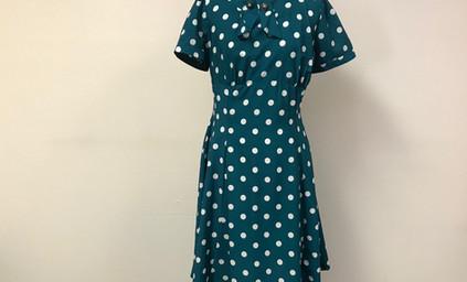 Emerald Polka Dot Dress