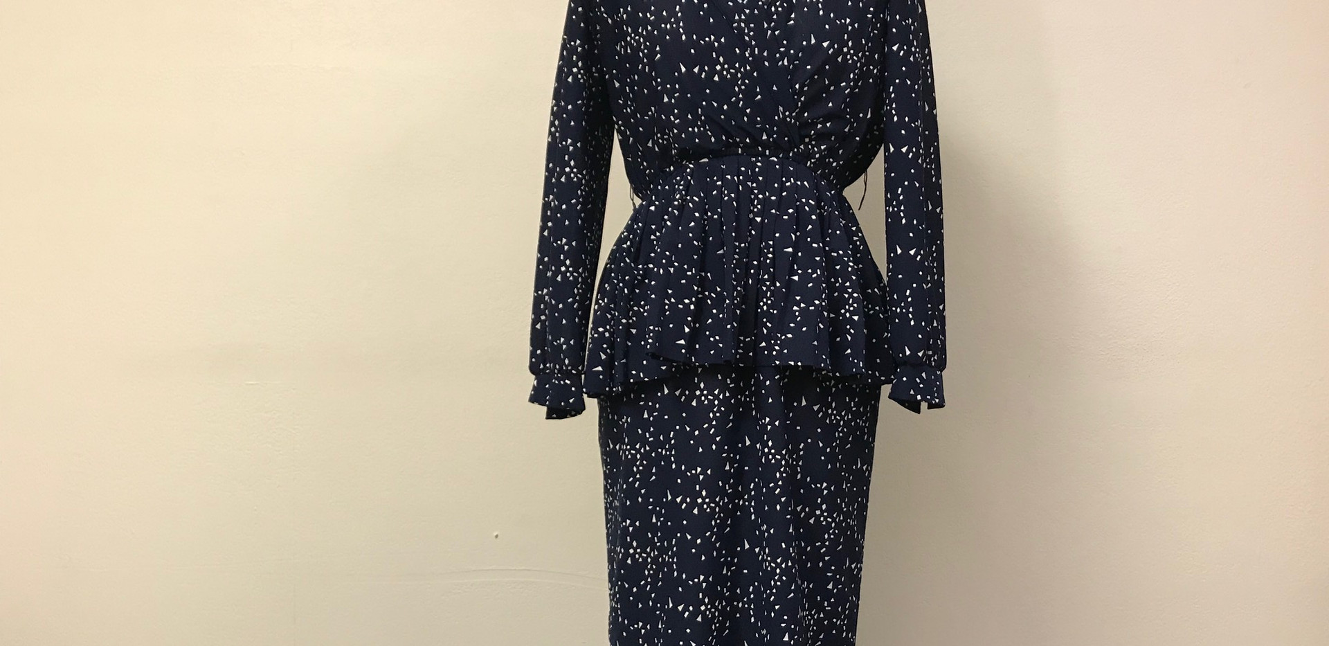 Navy Blue Polka Dot Dress