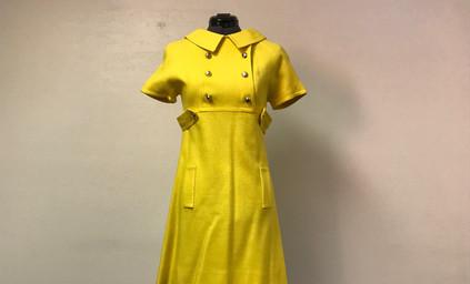 Yellow Mod Style Dress
