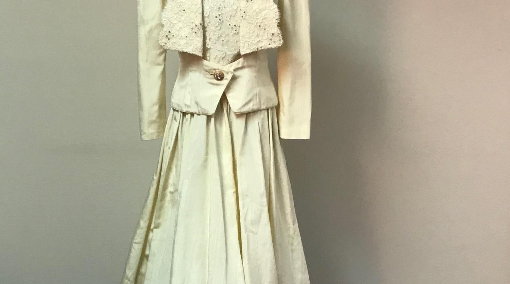 Cream Wedding Dress with Jacket