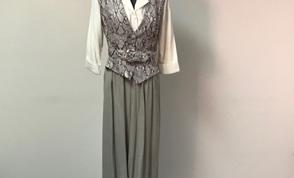 Grey and White Snake Skin Dress