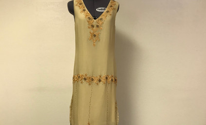 Yellow and Gold 1920's dress