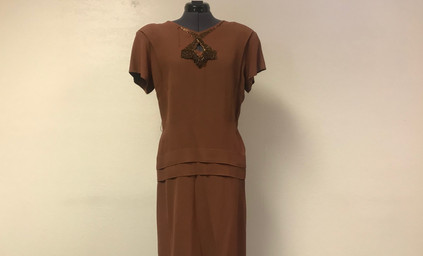 Brown 1920's Day Dress