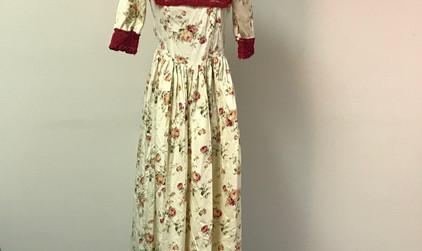 Late 1800's Floral Dress