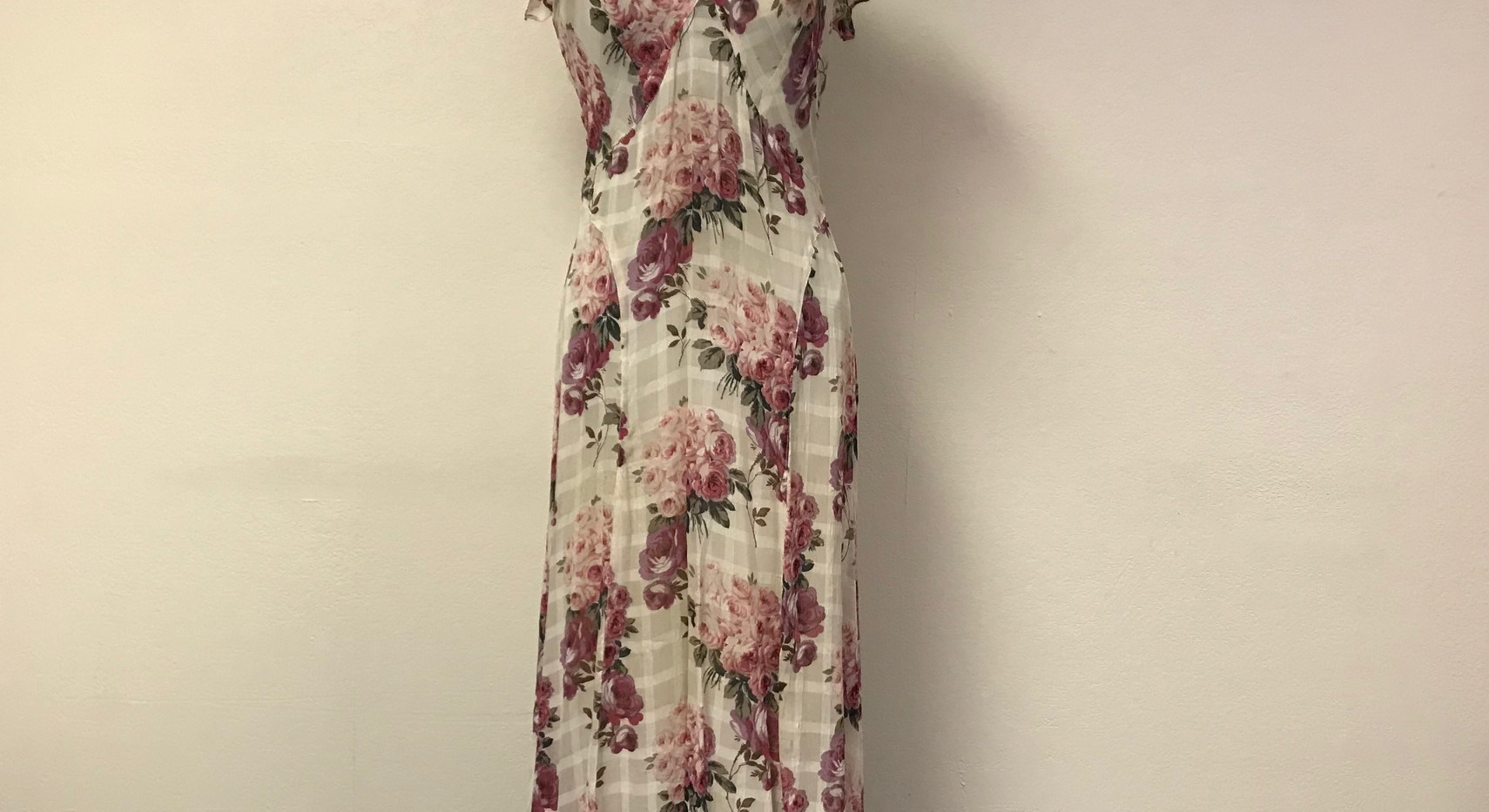Floral Chiffon 1930's Dress