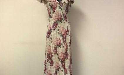 Floral Chiffon 1930's Dress