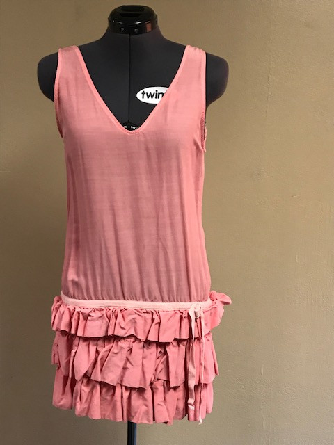 Pink Ruffled 1920's Dress