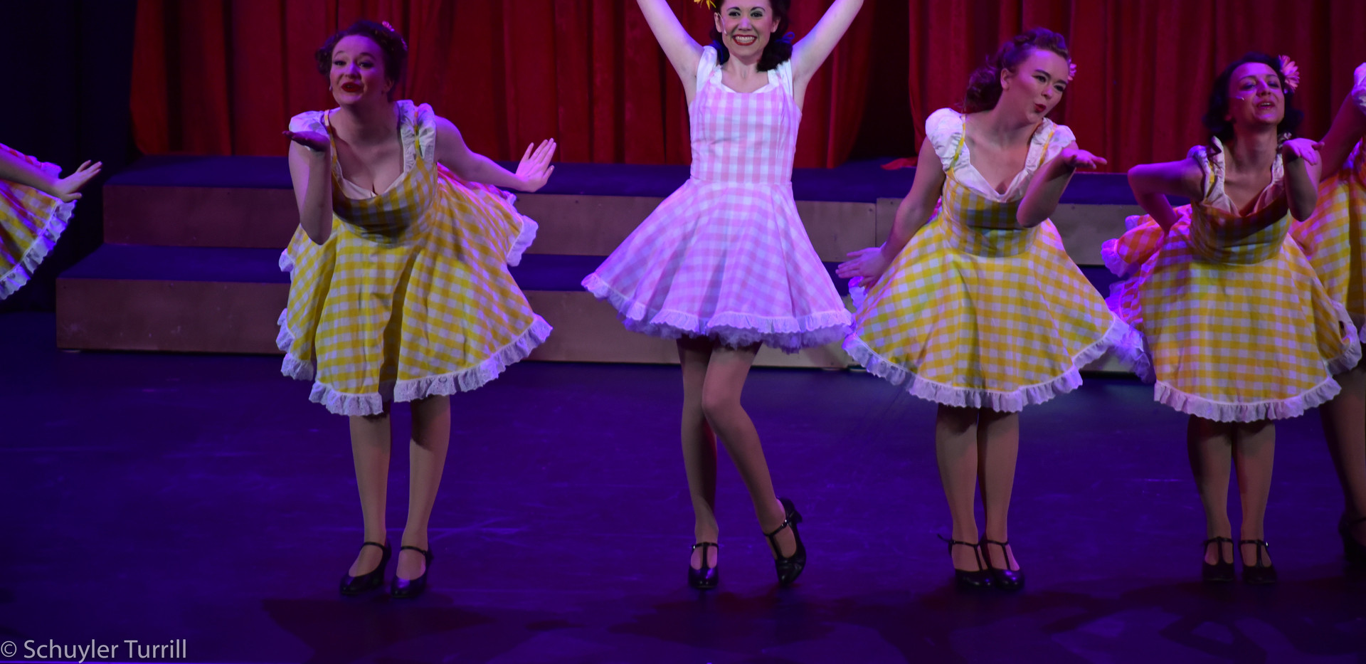 """Guys & Dolls - Adelaide and the Hot Box Girls """"Bushel and a Peck"""" costumes"""