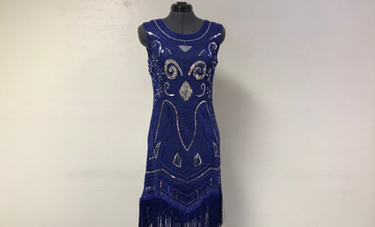 Blue and Silver Flapper Dress