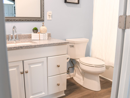 New Parents' Updated Bathroom
