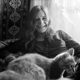 Janis Joplin at home, San Francisco, CA 1967