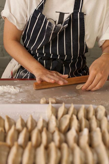 Hand rolled dumplings Clapton Victoria Park