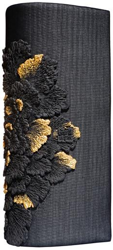 COLUMINIFORM CLOTCH_PEONY IN BLACK/GOLD