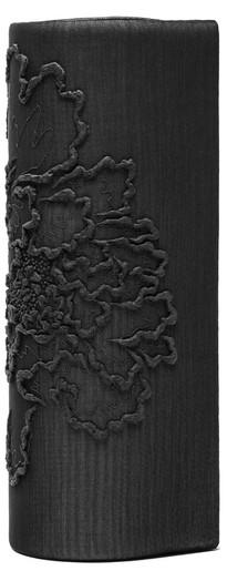 COLUMINIFORM CLUTCH_ LINED PEONY IN BLACK
