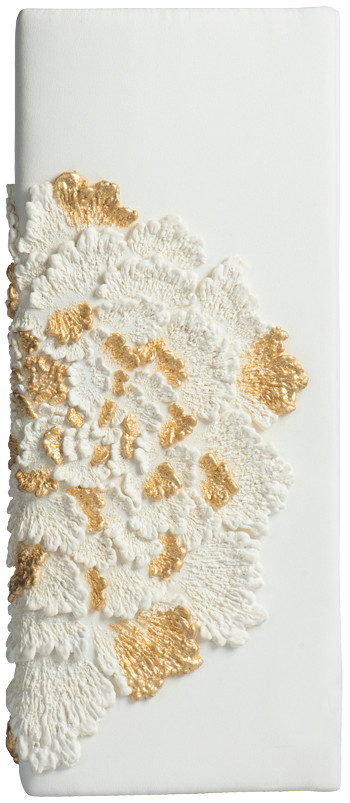 RECTANGLE CLUTCH_PEONY IN WHITE/GOLD