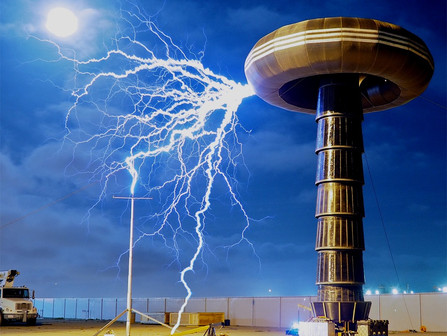 Shock the Rock (free) with the World's Largest Tesla Coil