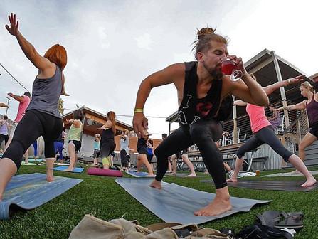 Beer Yoga Returns @ Rebel Kettle & Celebrates 3 years!