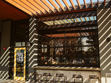 Don't forget about the GREAT patio at Fidel & Co.