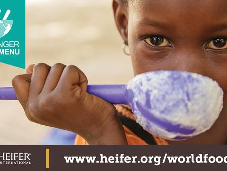 World Food Day benefiting Heifer International, Wed. October 16
