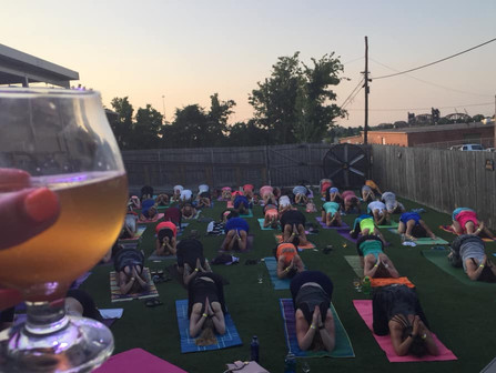 Beer Yoga at Rebel Kettle Brewing Co.