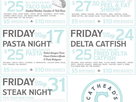 May's Friday Night Dinners @ Cathead's Diner