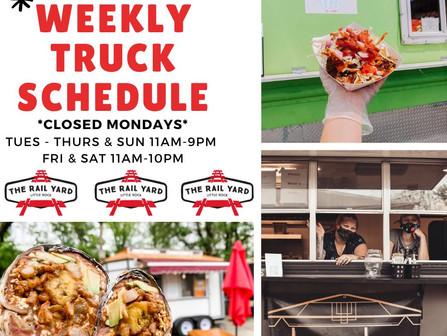 🚐🚐Food Trucks in the Yard this week: (5/17- 5/23)
