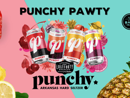 Event by Bark Bar, Punchy. Arkansas Hard Seltzer and Lost Forty Brewing