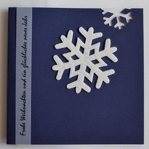 Weihnachtskarte Schneestern