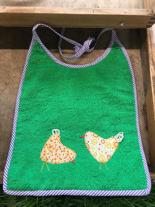 Oster-Lätzli (auf Wunsch personalisiert) Hühner