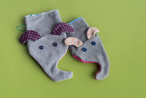 Elefanten-Waschlappen inkl. XL-Variante