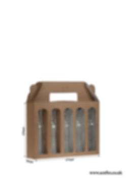 craft box for 5 x 5cl spirit bottles