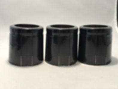 black 46mm x 50mm shrink capsules